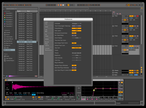 Mid dark color Theme for Ableton 10 by Sky boy