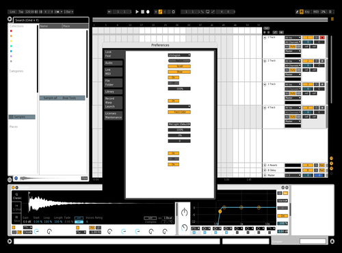 White & Black Theme for Ableton 10 by GiorginoSerbuciano