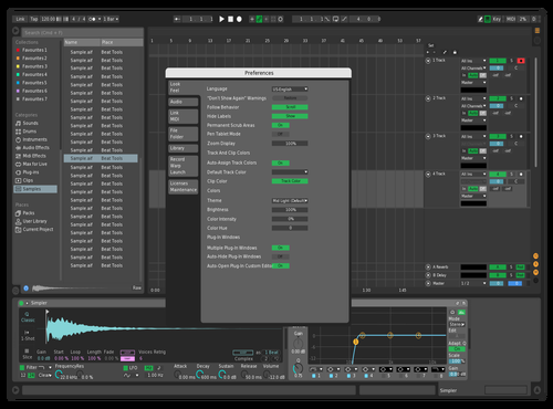 Bleu Theme for Ableton 10 by ETHR-L