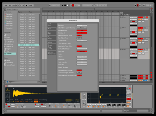 Red Work Theme for Ableton 10 by Gary