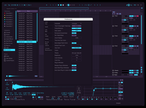 Percentage SkyBlue Theme for Ableton 10 by Shuvro