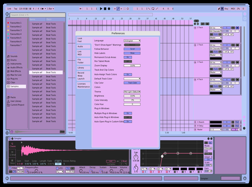 Pastel tingzz Theme for Ableton 10 by nicky