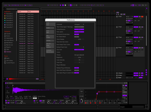 Purple Theme for Ableton 10 by Tim Großmann