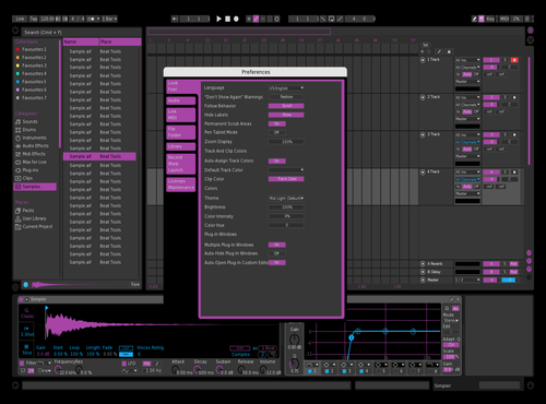 Easy Purple Theme for Ableton 10 by Paul Matthew