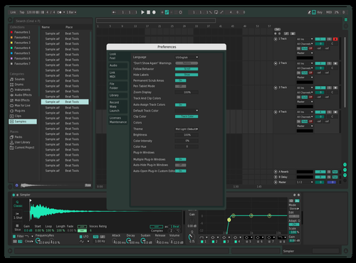 Mk Dark 1 Theme for Ableton 10 by Michael Alexander Konstantinidis