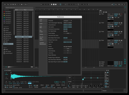 Blue dark Theme for Ableton 10 by matis050