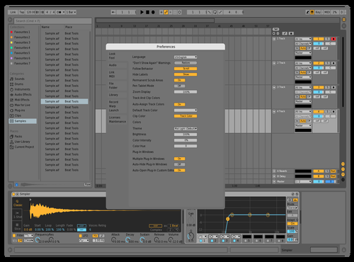 Soft Mid-light Theme for Ableton 10 by Ben