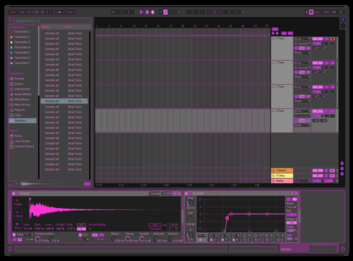 Purple Theme Eater Theme for Ableton 10 by Dave