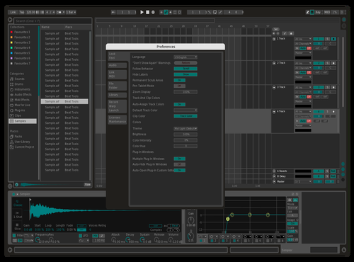 Dark Ice Theme for Ableton 10 by Laraz F