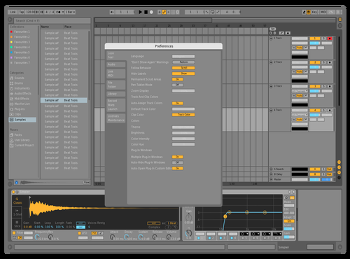 White Letters Theme for Ableton 10 by dicky69