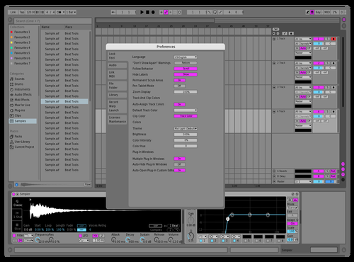 RETROQUEER Theme for Ableton 10 by Stephan Cacic