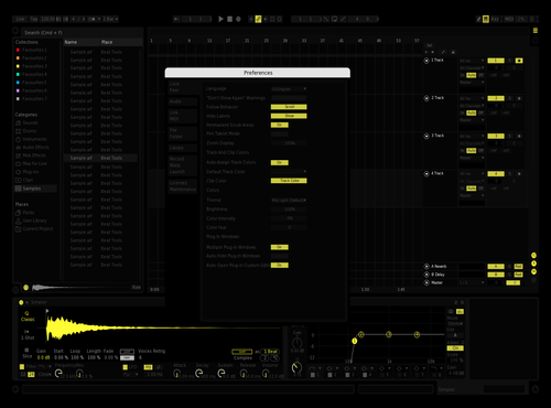 Yellow1 Theme for Ableton 10 by abu