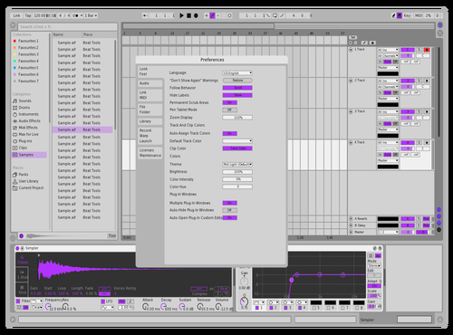 Purple Light Theme for Ableton 10 by Rick