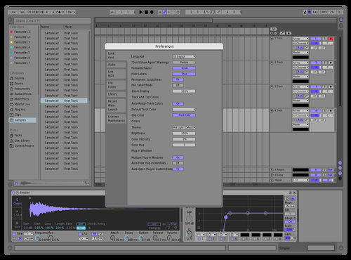 Simple gray-purple Theme for Ableton 10 by Goofer