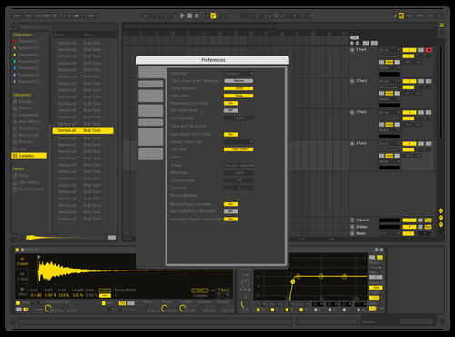 Yellow2 Theme for Ableton 10 by Wojciech