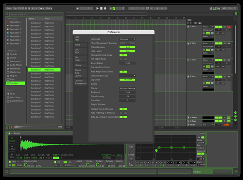 Green Plus Theme for Ableton 10 by Daniel Keenan