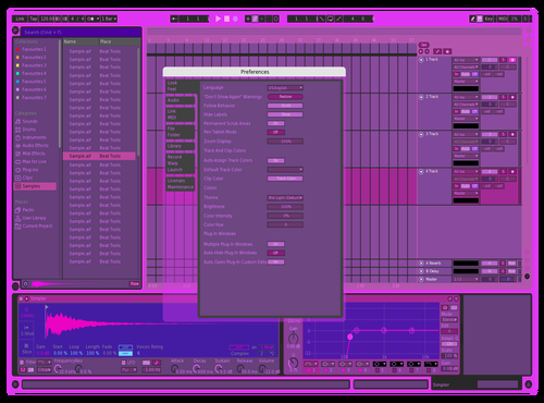 Miami Colors Theme for Ableton 10 by slagur