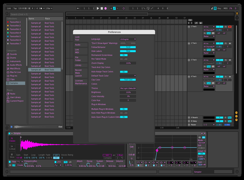 Pinky Theme for Ableton 10 by Brian Salazar