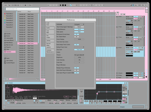 CottonCandyLight Theme for Ableton 10 by EZATO