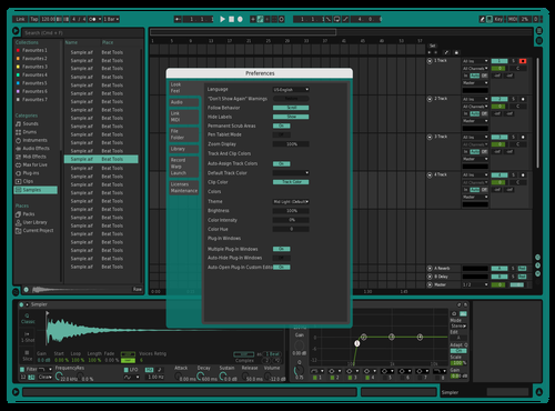 Seafoam hans Theme for Ableton 10 by hans