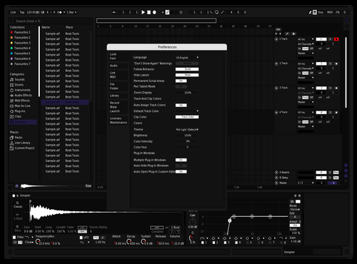 Indigo Contrast Theme for Ableton 10 by Koomatila