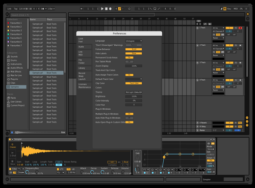 Dark Easy Theme for Ableton 10 by ggh
