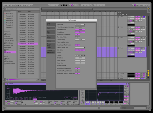 Faceless Purple Theme for Ableton 10 by Fuzen Kurai