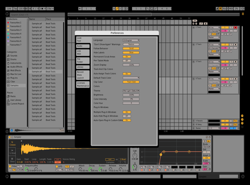 Es adjust 1 Theme for Ableton 10 by Eric Straube
