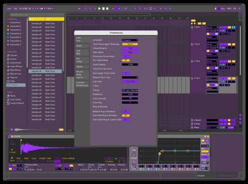 Purple Theme for Ableton 10 by kain