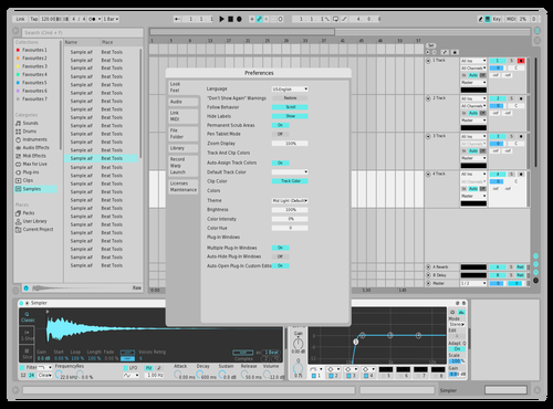 Light Blu Theme for Ableton 10 by Callum