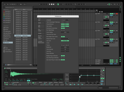 DarkGreenBlue Theme for Ableton 10 by Alex