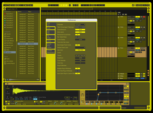 H!GhLiGhTeR Theme for Ableton 10 by Fletcher Hendrickson