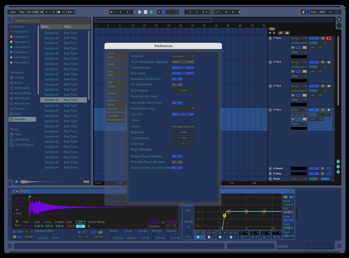 BLUE Theme for Ableton 10 by Drake Stafford
