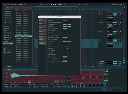 Projekt theme Theme for Ableton 10 by projekt