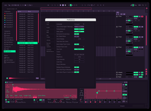 Neon Theme for Ableton 10 by Pablo