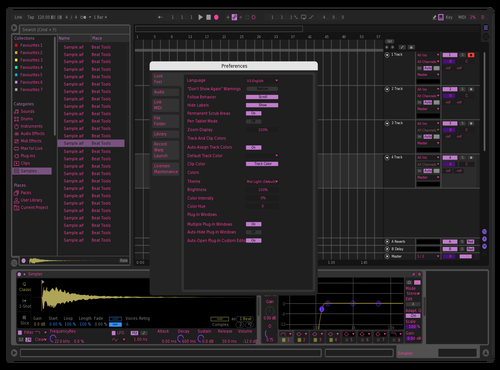 Purple la Theme for Ableton 10 by nicou.la