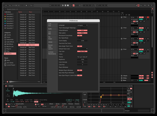 Odsujbo Theme for Ableton 10 by David DelGobbo