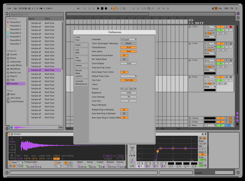 Scheme Theme for Ableton 10 by D