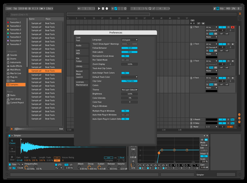TheLab_Blue Theme for Ableton 10 by James McCall
