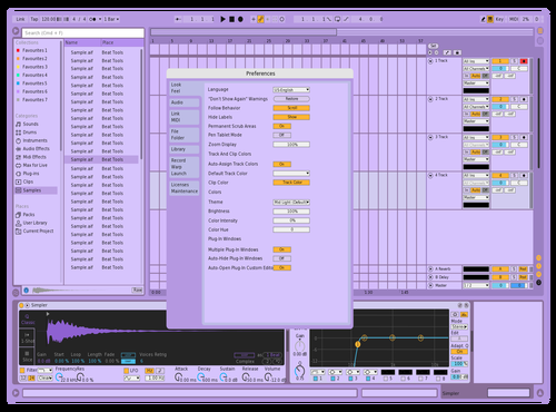 Violet mid Theme for Ableton 10 by Noa Giom