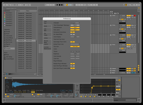 Simpel Dunkel Theme for Ableton 10 by Stefan Ruch