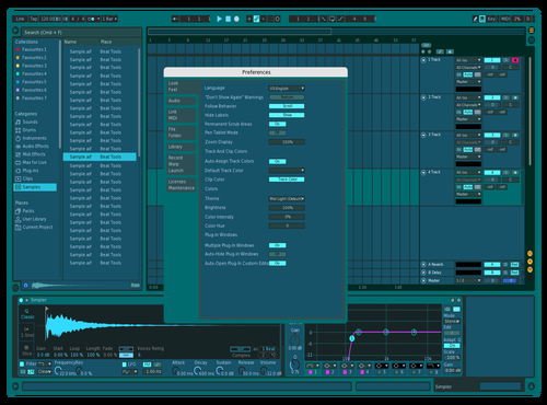 BLUE Theme for Ableton 10 by Nicon