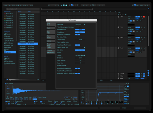 Cool Blue Theme for Ableton 10 by Peter Polizos