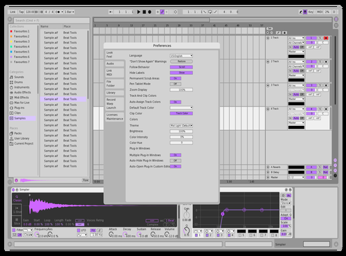 LIGHT LAVENDER Theme for Ableton 10 by Cedric Swan