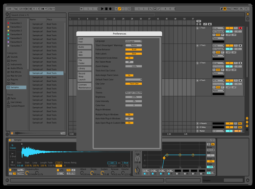Midlightflipped Theme for Ableton 10 by Reaver