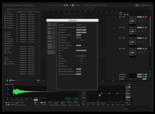 Spotify (Fixed) Theme for Ableton 10 by Halil Can Sagan