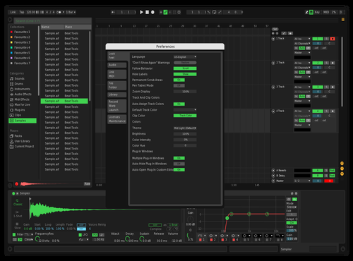TK Black Theme for Ableton 10 by Tovking