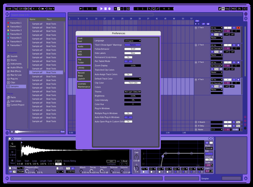 Purple Theme for Ableton 10 by ad1008