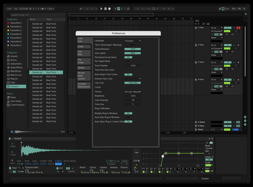 Seafoam w/visible needle Theme for Ableton 10 by AIbot