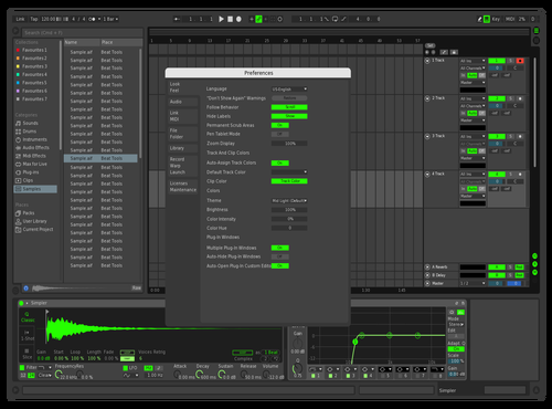 Dark with some green v1 Theme for Ableton 10 by Nicholas Owen Cunningham